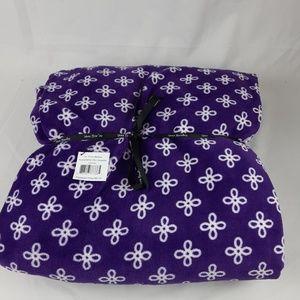 NWT Vera Bradley XL Throw Blanket Purple/White